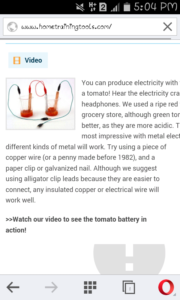 produce electricity with battery