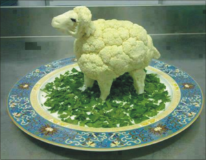 Make a sheep with cabage