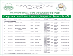 Eleven students received the scholarship.